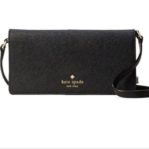 NWOT Kate Spade iPhone 7 leather crossbody wallet
